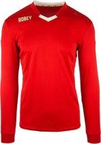 Robey Hattrick LS - Voetbalshirt - Kinderen - Rood - Maat 152
