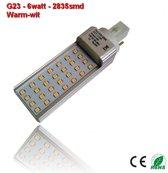 PL-G23-6w-2835smd warm-Wit 580 lumen