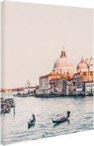 Zonsopgang Venetie Canvas 80x120 cm - Foto print op Canvas schilderij (Wanddecoratie woonkamer / slaapkamer) / Steden Canvas Schilderijen