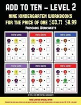 Preschool Worksheets (Add to Ten - Level 2)
