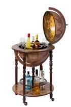 Brulo Wereldbol Globebar barglobe J. Cartier Wijnrek - ⌀ 45 cm - 4 flessen