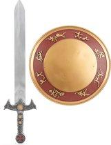Gladiatorset met zwaard en schild voor kinderen - Verkleedattribuut