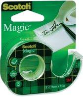 27x Scotch plakband Magic Tape, 19mmx7,5 m, blister met dispenser