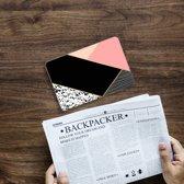 iPad Mini 4 Uniek Tablethoesje Black Pink Shapes