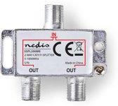 CATV F-Splitter     Max 4,2 dB versterking     5 - 1000 MHz     2 uitgangen