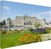 Belvedere Paleis met haar tuinen Canvas 180x120 - XXL cm - Foto print op Canvas schilderij (Wanddecoratie)