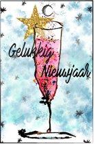 Cadeaukaartjes oud en nieuw - minicard - champagne - nieuwjaar