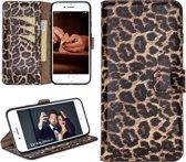 Bouletta Lederen Apple iPhone 8 Plus Hoesje - Wallet Case - Leopard