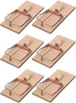 6x Rattenvallen/rattenklemmen 17 cm - Ongediertebestrijding/ongediertewering tegen ratten