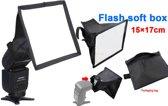 Opvouwbaar flash light diffuser softbox voor speedlight