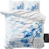 Sleeptime Dream Orchid - Dekbedovertrekset - Lits-Jumeaux - 240x200/220 + 2 kussenslopen 60x70 - Blauw