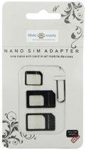 SIM kaart adapter - nano sim - micro sim converter - Samsung iPhone Huawei Ejector Pin