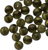 Resin Kralen (6 mm) Olive Green Shine (50 Stuks)