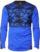 Camo shirt merino wol – blauw - maat L