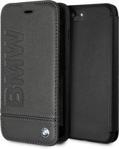 BMW Book Case Zwart - Stijlvol - Leer - iPhone 7-8 Plus  - Met pashouder