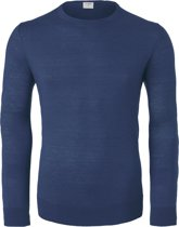 Level 5 - heren trui wol - royal blauw (Slim Fit) -  Maat M
