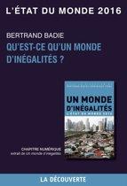 Chapitre L'état du monde 2016 - Qu'est-ce qu'un monde d'inégalité ?