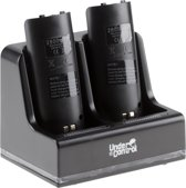Under Control Duo Oplader + 2 Batterijen Wii - Zwart