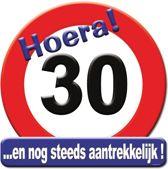 Huldeschild hoera 30 jaar 50x50cm