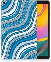 Hoesje Samsung Tab A 10.1 (2019) Design Waves Blue