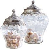 LOBERON Glazen pot set van 2 Isaline helder