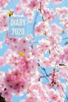 2020 Daily Diary Journal, Cherry Blossoms