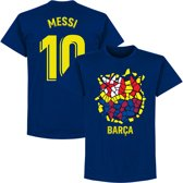 Barcelona Messi 10 Gaudi Logo T-Shirt - Navy - XXL