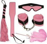 Bad Kitty – Bondage Set voor Verlegen Stoute Meiden 5 Delig - Roze