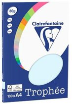 Clairefontaine Trophée - blauw - kopieerpapier- A4 80 gram - 100 vellen