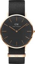 Daniel Wellington Classic Black Cornwall  DW00100148 - Horloge - NATO - Zwart - Ø 40mm