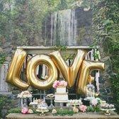 L.O.V.E. ballon Gouden Letters 90 cm hoog - Pride kings