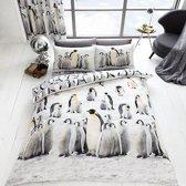 Pinguin 2 persoons dekbedovertrek, Pinguins dekbed 200 x 200 centimeter