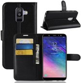 Book Case Hoesje Samsung Galaxy A6 Plus (2018) - Zwart