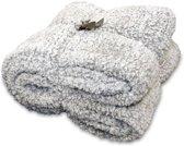 Unique Living Knut - Fleece polyester - Plaid - 150x200 cm - Nickel Grey