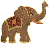 Behave® Broche olifant bruin