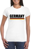Wit Duitsland supporter shirt dames XS