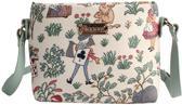 Signare Schoudertas Alice in Wonderland   Gobelinstof