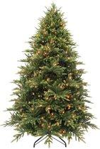 Triumph Tree kunstkerstboom met led harrison maat in cm: 215 x 140 groen met 328 warmwitte led lampjes