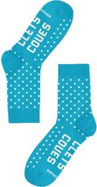 CLETS COUES SOK BLAUW/WIT DOTS MAAT 27-30