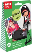 12x Apli Kids craft kit, op blister, piraat