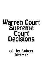 Warren Court Supreme Court Decisions