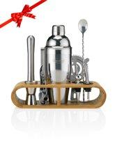 Cocktail Set – 17delige Cocktailset + Recepten E-book – Luxe Cadeau Man Vrouw Shaker Set – 750ml – Qwality