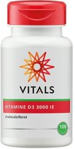 Vitals Vitamine D3 3000 IE  Voedingssupplementen - 100 vegicaps