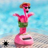 Bewegende Flamingo op Zonne-Energie