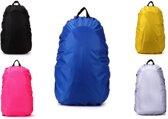 Regenhoes Rugzak - Waterdichte Backpack Hoes - Flightbag 35L | Bescherm uw tas tegen regen! (Blauw)