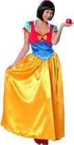 Sneeuwwitje Kostuum   Verlegen Sneeuwwitje Lang   Vrouw   Maat 38   Carnaval kostuum   Verkleedkleding