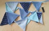 Vlaggetjes kinderen baby blauw verjaardag vlaggenlijn slinger geboorteslinger Drescher