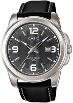 Casio MTP-1314L-8AVEF - Horloge - 24 mm - Leer - Zwart