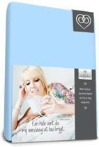 Bed-fashion jersey hoeslaken Bleu - 140 x 210 cm - Bleu