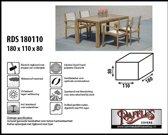 RDS180110 Beschermhoes voor tuinset, tafel met stoelen 180 x 110 H: 80 cm taupe